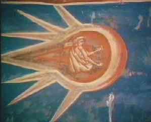 """东欧德卡尼修道院壁画中的""""上帝的太空船"""" - 异域深寒 -"""