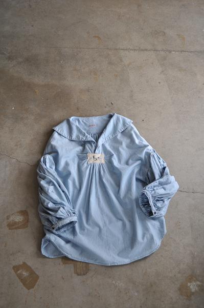 kapital/キャピタル NEWシャンブレー 丸襟セーラーブッファンシャツ