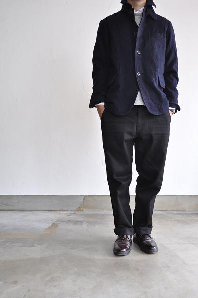 RINEN/リネン 2/48 圧縮ウール綾織 カバーオール