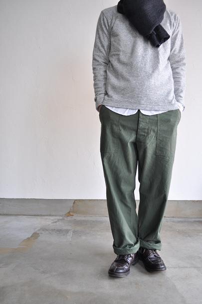 Rinen/リネン 1/25 ウール吊り天竺 リーフネック