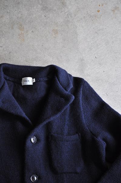 RINEN/リネン 圧縮ウール5G手横編み カバーオール