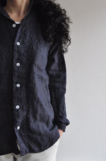 RINEN/リネン スクェアカラーシャツ