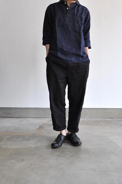 jujudhau/ズーズーダウ 3/4 P.O.(Linen)/リネン3/4シャツ