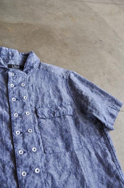 LOLO/ロロ Linen Double Button Shirt/リネン ダブルボタンシャツ