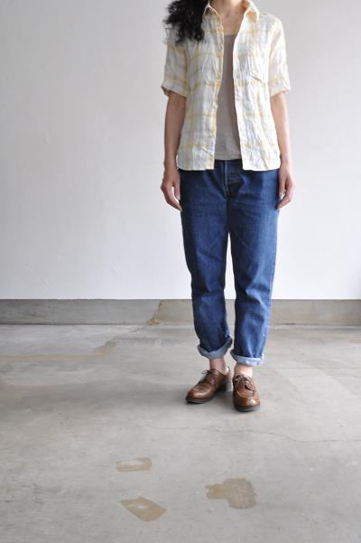 Ordinary fits/オーディナリー フィッツ S/S LITHUANIA LINEN SHIRT(CHECK)