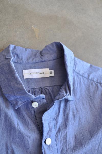 STILL BY HAND/スティルバイハンド 7分袖 プルオーバーシャツ