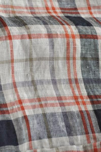 RINEN/リネン リネンチェックシャツ