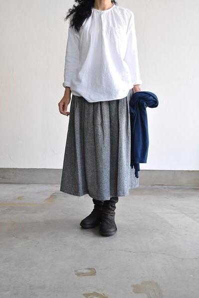 GRANDMA MAMA DAUGHTER KATO/グランママドーター ボックスプリーツツイードスカート