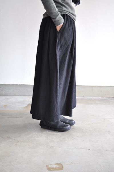 jujudhau/ズーズーダウ GATHER SKIRT(W/C BLACK)/スカート