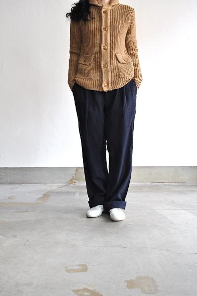 RINEN/リネン 2/36 ウールサージ パンツ
