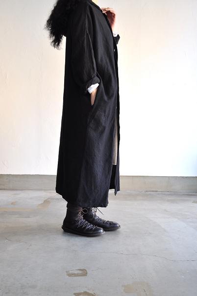 jujudhau/ズーズーダウ PILGRIM COAT(W/C BLACK)