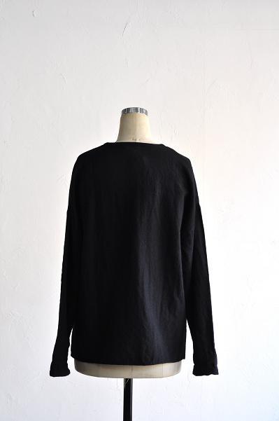 jujudhau/ズーズーダウ V-NECK SHIRTS(W/C BLACK)