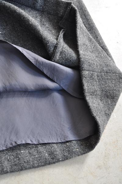 etre Pieds nus/エートル・ピエ・ニュ Lomond Tweed Pleats & Gather Skirt/プリーツ&ギャザー スカート