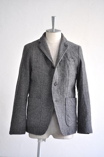 RINEN/リネン 1/8 ツィードヘリンボーン テーラードジャケット