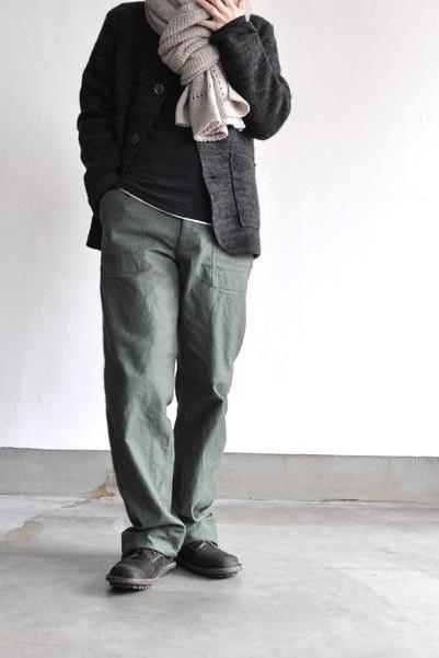 etre Pieds nus/エートル・ピエ・ニュ カシミア ガーター ラージ ショール/Cashmere Garter Large Shawl<br />