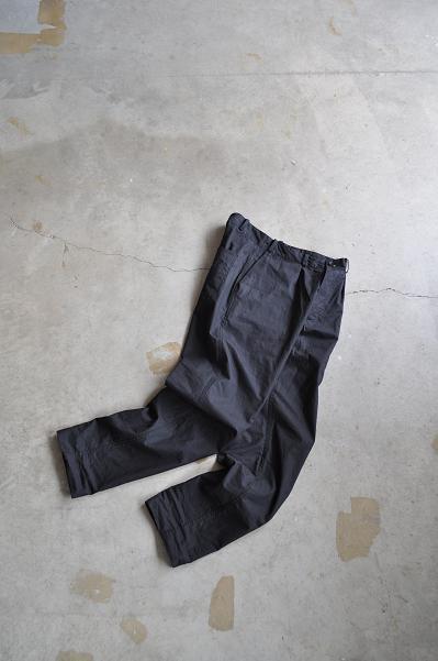 STYLE CRAFT WARDROBE/スタイルクラフトワードローブ PANTS#3 BLACK/パンツ