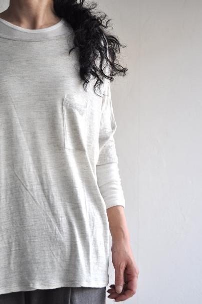 TANG/タング R/リネン天竺 Tシャツ