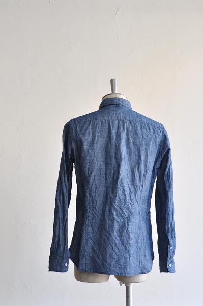 STILL BY HAND/スティルバイハンド コットンリネンシャンブレー 隠しBDシャツ