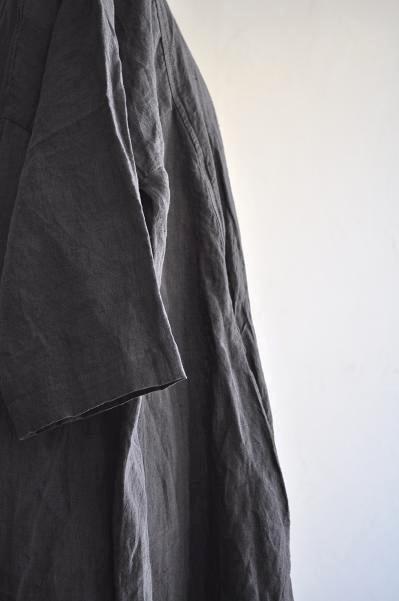 jujudhau/ズーズーダウ PATCH UP DRESS(LINEN GRAY)