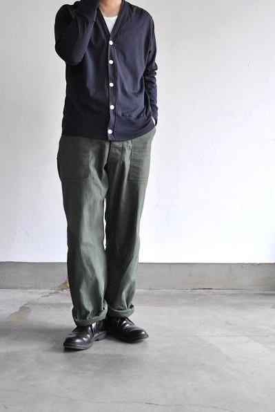 NO CONTROL AIR/ノーコントロールエアー 撚りムラ ラムコ コットン天竺 カーディガン