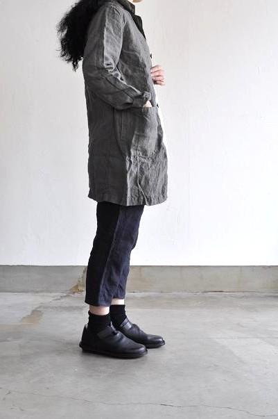 RINEN/リネン 40/1オーガニックリネン平織り テーラードコート