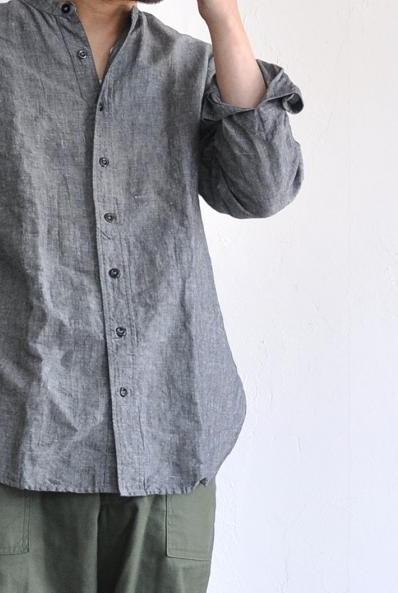 GARMENT REPRODUCTION OF WORKERS/ガーメント リプロダクション オブ ワーカーズ シャツ/GARCONS SHIRT(OPEN) GRAY