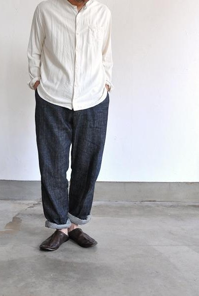 jujudhau/ズーズーダウ シャツ/F.B.HENRY(RAW SILK NATURAL)