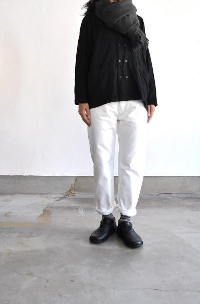 jujudhau/ズーズーダウ DOUBLE BOTTON SHIRTS WOOL CAMEL WOOL COTTON BLACK